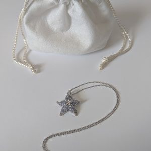 1.00 CT Tanzanite Starfish Enhancer necklace